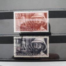 Sellos: SERIE COMPLETA GUINEA 1955 EDIFIL 342 * + 343 USADO. Lote 223718487