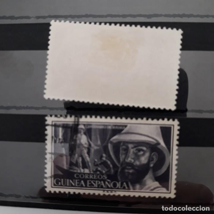 Sellos: SERIE COMPLETA GUINEA 1955 EDIFIL 342 * + 343 USADO - Foto 2 - 223718487