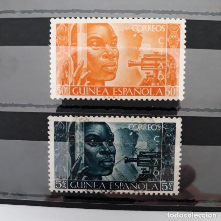 SERIE COMPLETA GUINEA 1951 EDIFIL 309 * + 310 USADO (Sellos - España - Colonias Españolas y Dependencias - África - Guinea)