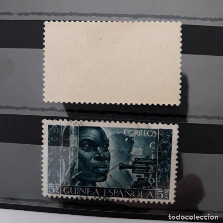 Sellos: SERIE COMPLETA GUINEA 1951 EDIFIL 309 * + 310 USADO - Foto 2 - 223718581