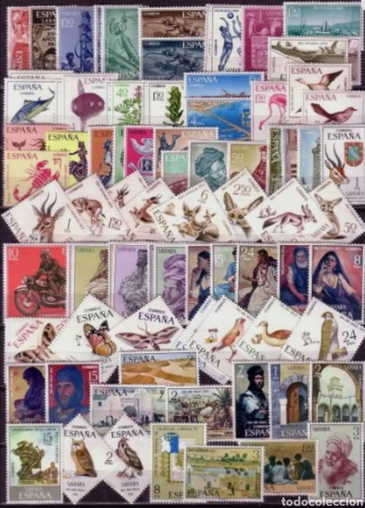 ESPAÑA SAHARA 1965-1975 AÑOS COMPLETOS EDIFIL 239/322 - NUEVOS SIN CHARNELA MNH (Sellos - España - Colonias Españolas y Dependencias - África - Sahara)