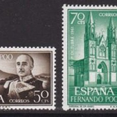 Timbres: FERNANDO POO 1961 - GENERAL FRANCO SERIE COMPLETA NUEVA SIN FIJASELLOS EDIFIL Nº 199/202. Lote 224584261