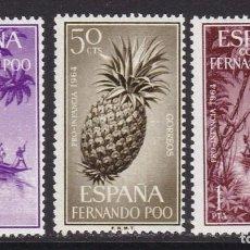 Francobolli: FERNANDO POO 1964 - PRO INFANCIA SERIE COMPLETA NUEVA SIN FIJASELLOS EDIFIL Nº 223/225. Lote 224586260