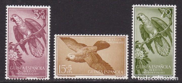 GUINEA 1957 - PRO INDÍGENAS SERIE COMPLETA NUEVA SIN FIJASELLOS EDIFIL Nº 365/367 (Sellos - España - Colonias Españolas y Dependencias - África - Guinea)