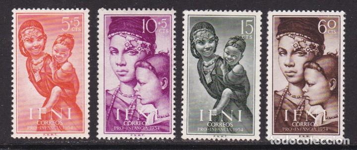 IFNI 1954 - PRO INFANCIA SERIE COMPLETA NUEVA SIN FIJASELLOS EDIFIL Nº 114/117 (Sellos - España - Colonias Españolas y Dependencias - África - Ifni)