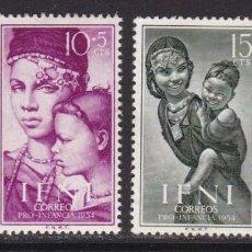 Timbres: IFNI 1954 - PRO INFANCIA SERIE COMPLETA NUEVA SIN FIJASELLOS EDIFIL Nº 114/117. Lote 224628633