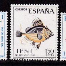 Francobolli: IFNI 1967 - PECES SERIE COMPLETA NUEVA SIN FIJASELLOS EDIFIL Nº 230/232. Lote 224632721