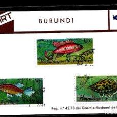 Sellos: SELLOS - TEMA PECES - BURUNDI - FIL-ART. Lote 224643913