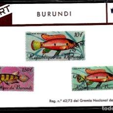 Sellos: SELLOS - TEMA PECES - BURUNDI - FIL-ART. Lote 224643985
