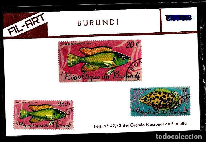 SELLOS - TEMA PECES - BURUNDI - FIL-ART (Sellos - España - Colonias Españolas y Dependencias - África - Otros)