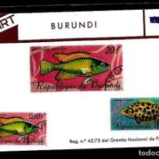 Sellos: SELLOS - TEMA PECES - BURUNDI - FIL-ART. Lote 224644110
