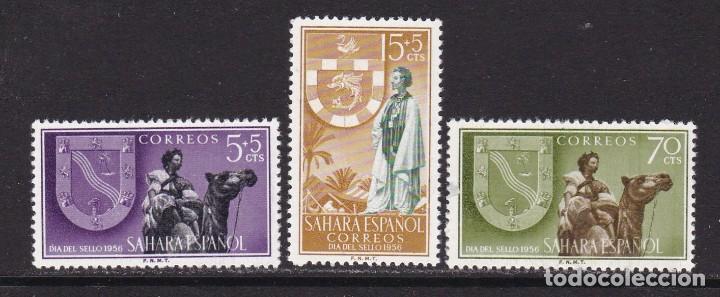 SAHARA 1956 - DÍA DEL SELLO SERIE COMPLETA NUEVA SIN FIJASELLOS EDIFIL Nº 130/132 (Sellos - España - Colonias Españolas y Dependencias - África - Ifni)