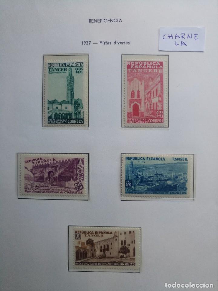 TÁNGER SERIE DE BENEFICENCIA DEL AÑO 1937 EDIFIL 1/5 CON CHARNELA * (Sellos - España - Colonias Españolas y Dependencias - África - Tanger)