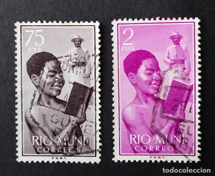 1960 RÍO MUNI MISIONES NIÑO INDÍGENA Y MISIONERO (Sellos - España - Colonias Españolas y Dependencias - África - Río Muni)