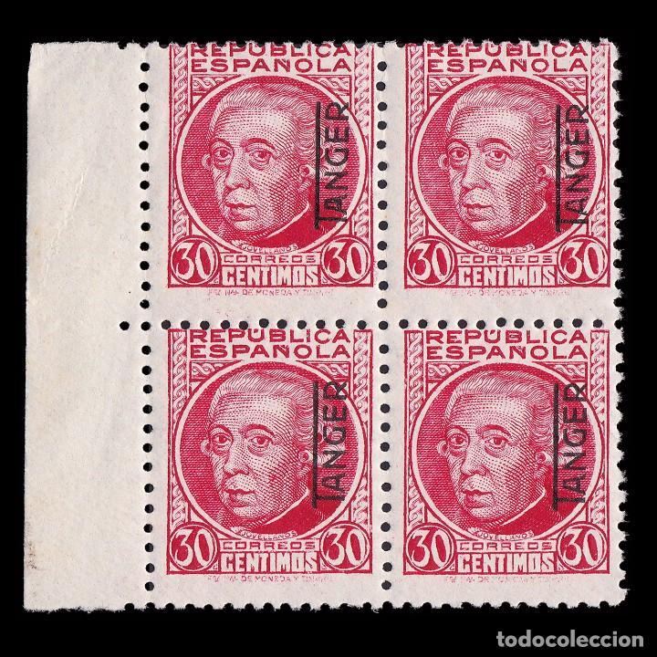 TANGER.1937-38.SELLOS ESPAÑA.25C.BLQ 4.CARMÍN.MNH EDIFIL.92 (Sellos - España - Colonias Españolas y Dependencias - África - Tanger)
