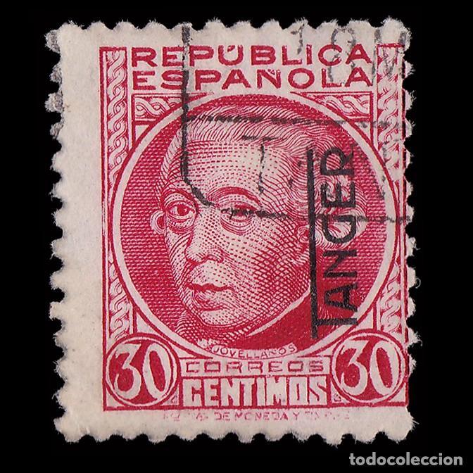 TANGER 1937-38.SELLOS DE ESPAÑA.H.25C.CARMÍN.USADO EDIFIL.92 (Sellos - España - Colonias Españolas y Dependencias - África - Tanger)