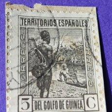 Sellos: SELLO GINEA ESPAÑOLA 1931 TIPOS DIVERSOS Nº 204 5 C CASTAÑO NEGRUZCO. Lote 227046615