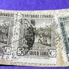 Sellos: 2 SELLOS GINEA E3 SELLOS GINEA ESPAÑOLA SPAÑOLA 1931 TIPOS DIVERSOS Nº 204 - 5 C Y UN SELLO DE 40 C. Lote 227053712