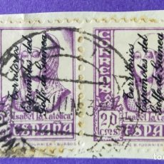 Sellos: 2 SELLOS TERRITORIOS ESPAÑOLES DEL GOLFO DE GUINEA 1931 - Nº 258 – 20 C. VIOLETA. Lote 227064370