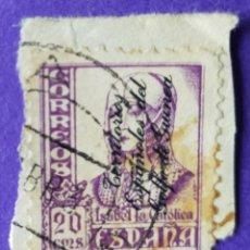 Sellos: SELLO TERRITORIOS ESPAÑOLES DEL GOLFO DE GUINEA 1939 - Nº 258 – 20 C. VIOLETA. Lote 227066110