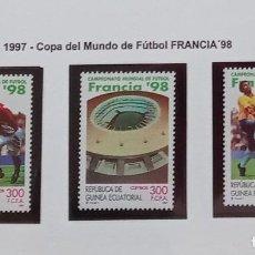 Sellos: GUINEA ECUATORIAL - 1997 - EDIFIL Nº 241/43 - COPA MUNDO FUTBOL - FRACIA 98 NUEVOS * *. Lote 227943955