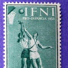 Sellos: SELLO IFNI 1958 PRO INFANCIA DEPORTES 20C. VERDE Nº 147. Lote 228435125