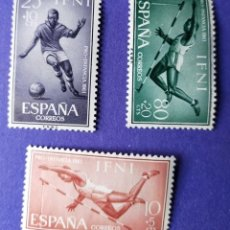 Timbres: 3 SELLOS IFNI 1961 SERIE COMPLETA 3 VALORES - PRO INFANCIA Nº 176/177/178. Lote 228505590
