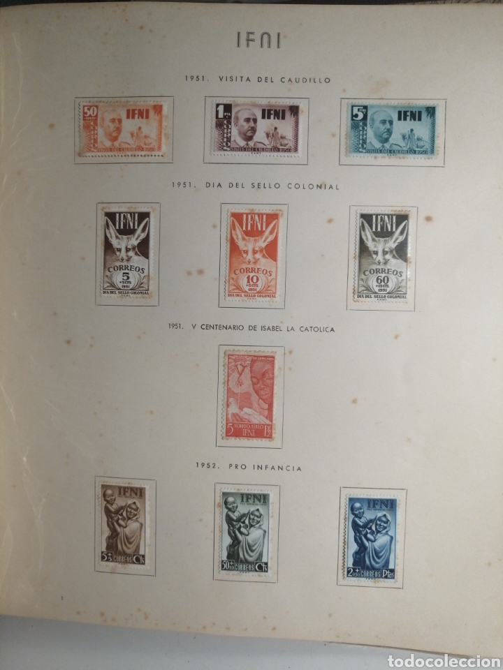 Sellos: Album de Sellos II Centenario Colonias Españolas IFNI, RIO MUNI, GUINEA, FERNANDO POO, SAHARA - Foto 2 - 229959110