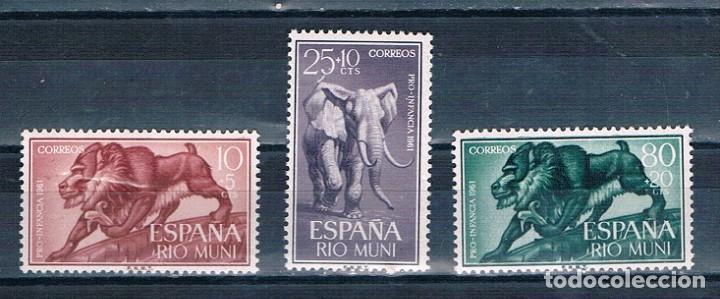 ESPAÑA RIO MUNI 1961 EDIFIL 18/20MNH** (Sellos - España - Colonias Españolas y Dependencias - África - Río Muni)
