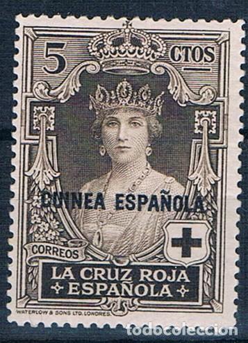 ESPAÑA 1926 GUINEA ESPAÑOLA EDIFIL 179 MH* FIJASELLOS UN VALOR CLAVE (Sellos - España - Colonias Españolas y Dependencias - África - Guinea)