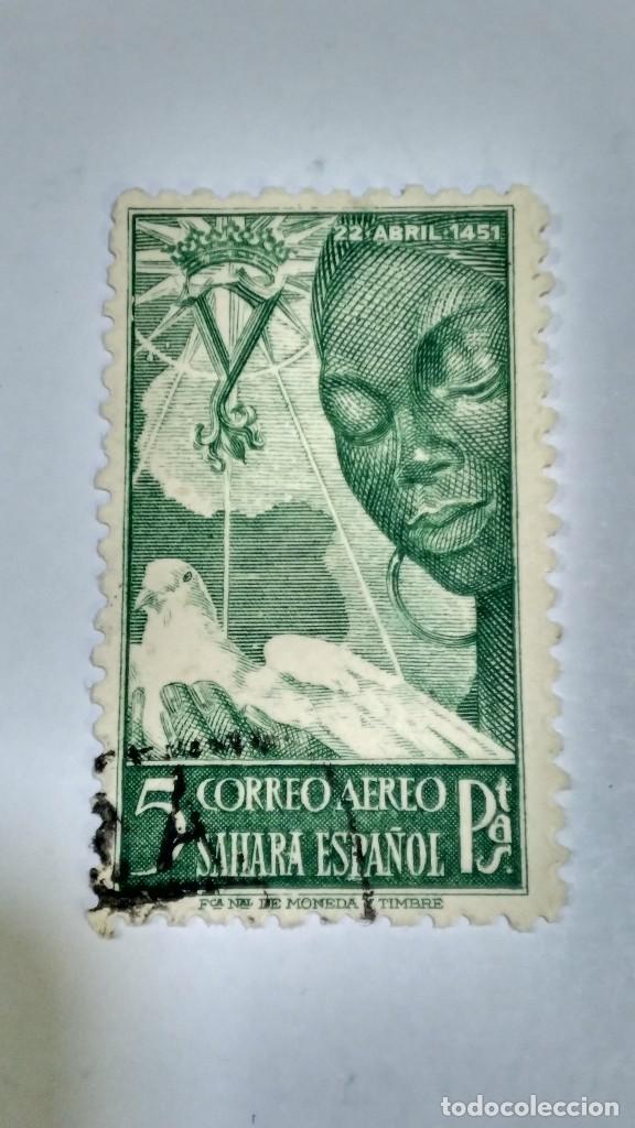SELLOS SAHARA 87. CENTENARIO ISABEL LA CATÓLICA. 1951. USADO. (Sellos - España - Colonias Españolas y Dependencias - África - Sahara)