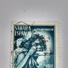 Sellos: SELLO SAHARA Nº 85. PRO INDÍGENAS 1950.USADO.. Lote 233132025
