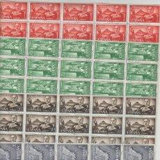 Timbres: FERNANDO POO- 199/202 EXALTACIÓN FRANCO AÑO 61 BLOQUES DE 25 SELLOS NUEVOS (SEGÚN FOTO). Lote 234330525