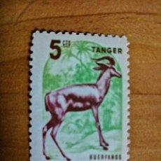 Sellos: TANGER - 5 CTS - HUÉRFANOS - TELEGRAFO ESPAÑOL - FLORA. Lote 234377585