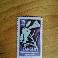 Sellos: TANGER - VALOR FACIL 15 CTS - TELEGRAFO ESPAÑOL - HUÉRFANOS - FLORA. Lote 234409990