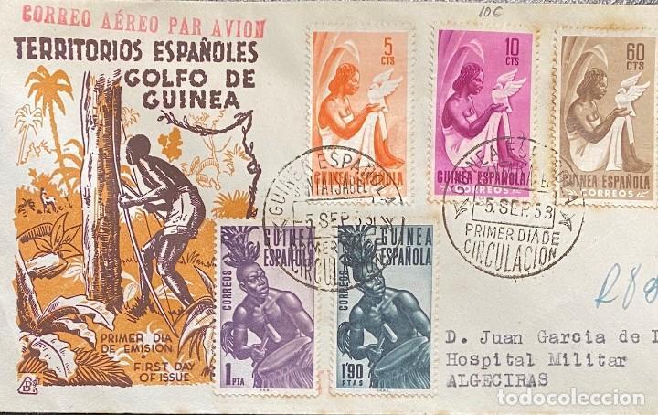GUINEA ESPAÑOLA, CARTA SOBRE PRIMER DÍA DEL AÑO 1953 (Sellos - España - Colonias Españolas y Dependencias - África - Guinea)