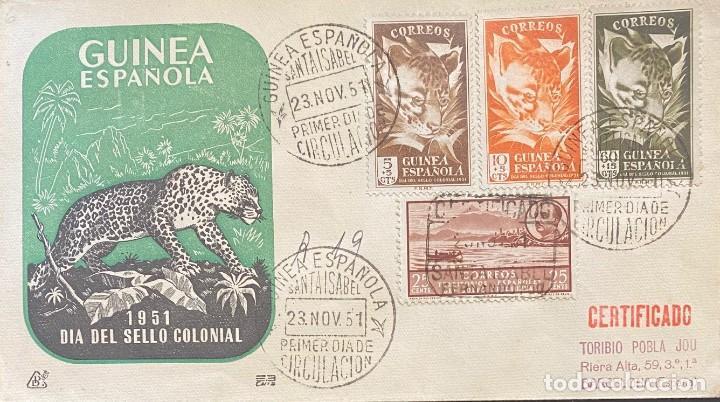 GUINEA, CARTA SOBRE PRIMER DÍA DEL AÑO 1951 (Sellos - España - Colonias Españolas y Dependencias - África - Guinea)