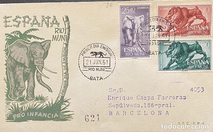 RÍO MUNI, CARTA SOBRE PRIMER DÍA DEL AÑO 1961 (Sellos - España - Colonias Españolas y Dependencias - África - Río Muni)