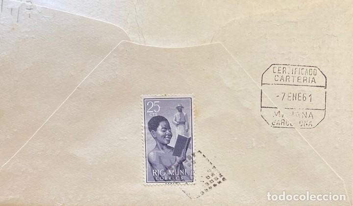 Sellos: RÍO MUNI, CARTA SOBRE PRIMER DÍA DEL AÑO 1960 - Foto 2 - 234643260
