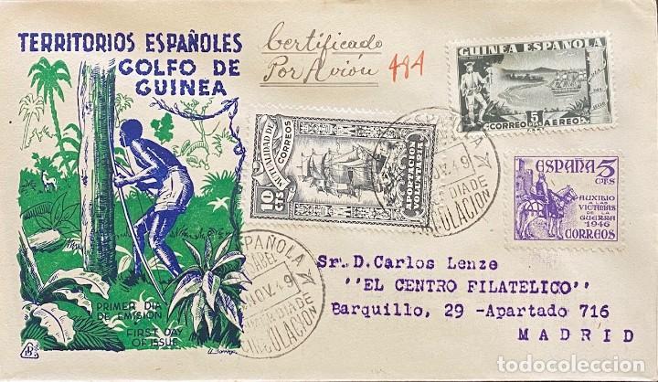 GUINEA, CARTA SOBRE PRIMER DÍA DEL AÑO 1949 (Sellos - España - Colonias Españolas y Dependencias - África - Guinea)