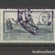 Sellos: AFRICA OCCIDENTAL. Nº 14. AÑO 1950. PAISAJES Y EFIGIE DEL GENERAL FRANCO. USADO.. Lote 234773755