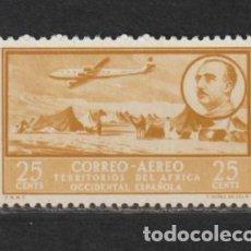 Timbres: AFRICA OCCIDENTAL. Nº 20*. AÑO 1951. PAISAJES Y EFIGIE DEL GENERAL FRANCO. NUEVO CON FIJASELLOS. Lote 234774250