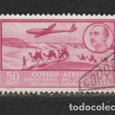 Timbres: AFRICA OCCIDENTAL. Nº 21. AÑO 1951. PAISAJES Y EFIGIE DEL GENERAL FRANCO. USADO.. Lote 234774630