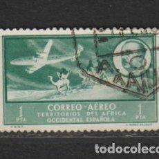 Timbres: AFRICA OCCIDENTAL. Nº 22. AÑO 1951. PAISAJES Y EFIGIE DEL GENERAL FRANCO. USADO.. Lote 234774790