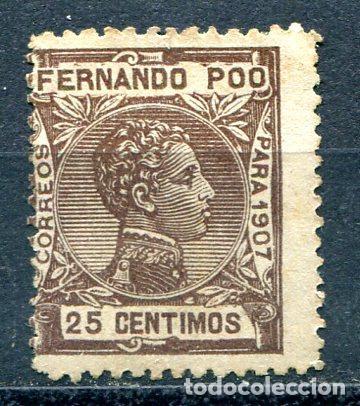 EDIFIL 159 DE FERNANDO POO, 25 CTS AÑO 1907. VER DESCRIPCIÓN (Sellos - España - Colonias Españolas y Dependencias - África - Fernando Poo)