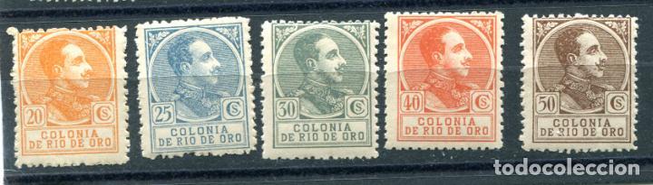 EDIFIL 109 AL 113 DE RIO DE ORO. NUEVOS SIN FIJASELLOS. (Sellos - España - Colonias Españolas y Dependencias - África - Río de Oro)