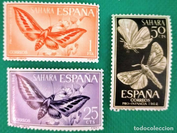 3 SELLOS SAHARA 1964 PRO INFANCIA. SERIE COMPLETA DE 3 VALORES 225/226/227 (Sellos - España - Colonias Españolas y Dependencias - África - Sahara)