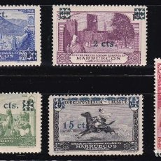 Sellos: MARRUECOS 1936 - HABILITADOS SERIE COMPLETA NUEVA SIN FIJASELLOS EDIFIL Nº 162/166. Lote 235233165