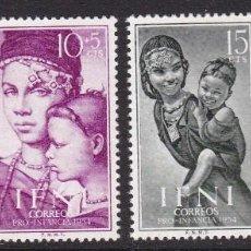 Timbres: IFNI 1954 - PRO INFANCIA SERIE COMPLETA NUEVA SIN FIJASELLOS EDIFIL Nº 114/117. Lote 235239005