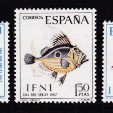 Timbres: IFNI 1967 - PECES SERIE COMPLETA NUEVA SIN FIJASELLOS EDIFIL Nº 230/232. Lote 235241420